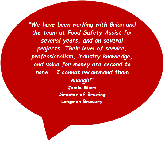 Food Safety Support client quote
